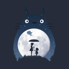 Check out this awesome 'Moonlight+Flight' design on Fanarts Anime, Anime Manga, Anime Art, Animes Wallpapers, Cute Wallpapers, Personajes Studio Ghibli, Art Studio Ghibli, Totoro Merchandise, Howl's Moving Castle