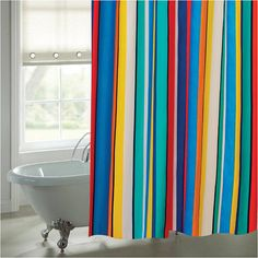 Funky Bright Striped Shower Curtain By Sophiehome On Etsy