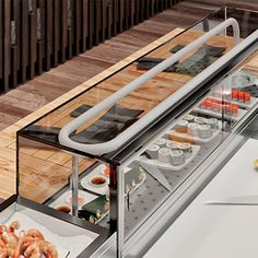 S/s refrigerated counters for japanese food, #sushi and sashimi. #restaurants #restaurantdesign