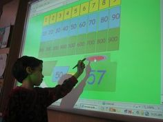 Interactive Whiteboard activities for math.