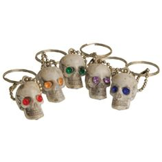 Jeweled Eyes Skull Key Chains - Novelty Toy Party favors and Carnvial Redemption prizes | Party Supply Store | Novelty Toys | Carnival Supplies | USToy.com