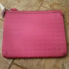 """New! Coach iPad Air case Brand new.  Padded.  Gorgeous pink.  Tablet sleeve.  It measures 10.5""""x8.5""""  Bundle to save even more. I love offers, but please be fair with them. :)  Merry Christmas! Coach Accessories Tablet Cases"""