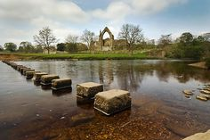 stepping stones, Bolton Abbey in the Yorkshire Dales