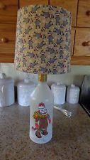 1.75 Lt Recycled  Bottle Lamp (Hand-Painted Sock Monkey  &  Sock Monkey Shade)