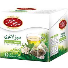 Saharkhiz Slimming Green Tea Herbal Infusion 12 Pyramid Bags