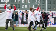 April 20, 2014: In an emotional ceremony, the Red Sox honored the victims and survivors of the Boston bombings.