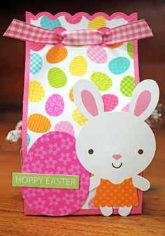 Doodlebug Design Inc Blog: Easter Bunny Treat Box by Kathy Skou