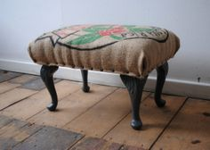 Coffee bag foot stool by local N.I. artist by ReFoundonline