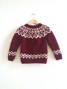 Knitting For Kids, Baby Knitting Patterns, Knitting Designs, Baby Patterns, Baby Sweaters, Sweaters For Women, Icelandic Sweaters, Eco Clothing, Lana