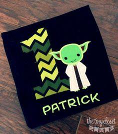 Personalized Star Wars Yoda Birthday Design- Black