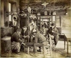 Kapalı Çarşıda bir Türk kahvehanesi