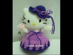 Tutorial amigurumi Hello Kitty - Sombrero (mod-3) - YouTube