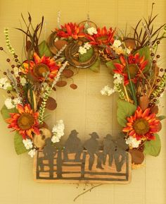 Cowboy up wreath
