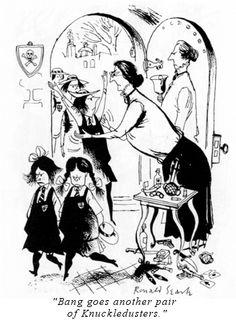 Ronald Searle - master cartoonist.