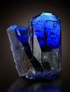 Two Tanzanite crystals in cluster are quite rare -- Arusha Region, Tanzania.