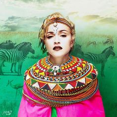 #Madonna #Samburu #tribu 2 #digitalart #rebelart by @madonna_art_vision