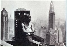 worker smoking during the lunch time on the empire state building july 1930 by eralsoto, via Flickr