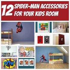 Spider-Man is a fan favorite in our house and I am debating decorating the kids room with this character.