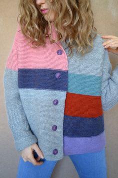 Стильное вязание спицами. Made by: Irina Biblieva Model: Kseniia Biblieva Вязанный кардиган в полоску! #pink #ootd #knit #cardigan #style
