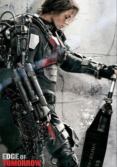 "Rita Vrataski (Emily Blunt), special forces warrior in ""Edge of Tomorrow"" enlists time travelling Tom to save Europe from an alien scourge"