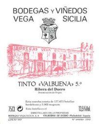 2000 Bodegas Vega-Sicilia Ribera del Duero Valbuena 5°, Spain, Castilla y León, Ribera del Duero - CellarTracker!
