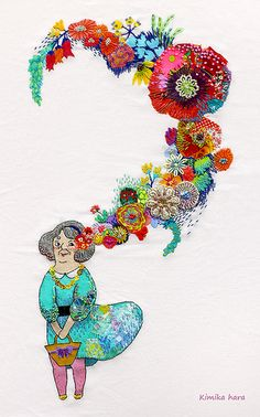 ♒ Enchanting Embroidery ♒ embroidered by kimika hara