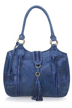 FREE SPIRIT. Handmade boho chic leather tote – ELF