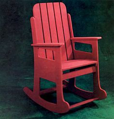 Free DIY rocking chair and glider plans