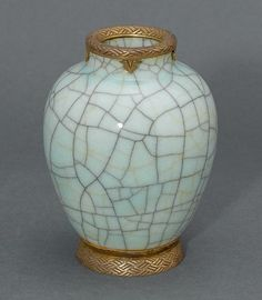A Chinese crackle-glazed vase… - Fine Asian, Australian & European Arts & Design Including Property From The Collection Of Dame Nellie Melba CBE - Sotheby's Australia - Antiques Reporter