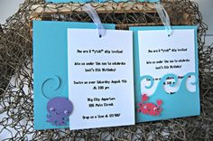 Under the Sea Birthday Party Invitation by WeBringTheParty on Etsy, $15.00