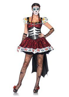 Leg Avenue Costumes 2Pc.Dia De Los Muertos Darling Dress and Back Bow with Train, Black, Small Leg Avenue,http://www.amazon.com/dp/B00BTPQ4HS/ref=cm_sw_r_pi_dp_T-qnsb0N2YCFN8KW