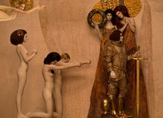 For the 2015 annual Life Ball in Vienna, photographer Inge Prader used models and props to bring Gustav Klimt paintings and Vienna Secession to life.