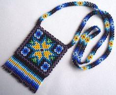 Huichol Beaded Necklace by Aramara on Etsy