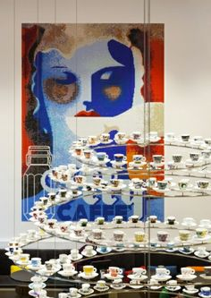 Tazzine Illy Art Collection l llly and Samsung together in London Opens in Regent Street boutique cafe with high technology.