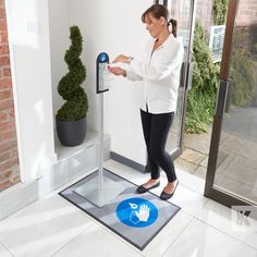 Installing a Sanitiser Dispenser Stand in the entrance area to your building will give customers and staff piece of mind that your business is on top of its hygiene responsibilities. Keeping you, your staff and your visitors, safe and well during the Pandemic.  #KleenTexEurope #WashYourHands #KeepYourDistance #Sanitiser #MakeMoreofYourFloor Hand Sanitizer Dispenser, Floor Mats, Entrance, Kit, Business, Building, Entryway, Buildings, Doorway