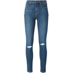 Paige Hoxton Skinny Jeans (99 KWD) ❤ liked on Polyvore featuring jeans, pants, bottoms, blue, denim skinny jeans, skinny leg jeans, paige denim, skinny fit jeans and blue jeans