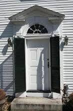 Image result for exterior door shutters House Trim, Shutter Doors, Exterior Doors, Shutters, Garage Doors, Shed, Outdoor Structures, Windows, Outdoor Decor