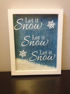 Let it snow christmas shadowbox decoration