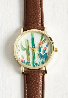 Cacti and Time Again Watch. Thanks to the delightful details of this desert-inspired watch, it will become a favorite youll wear frequently! #multi #modcloth