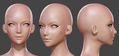 Head reference Character Model Sheet, Character Modeling, 3d Character, 3d Modeling, Character Concept, Design Visual, Head Anatomy, Sculpting Tutorials, Female Head