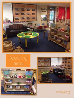 Re-organised reading area in my FS2 class.