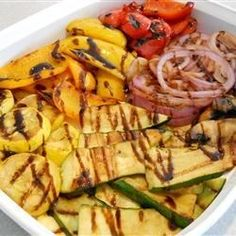 """Grilled Vegetables with Balsamic Vinegar   """"A simple recipe for vegetables that let's their quality and freshness shine through!"""""""