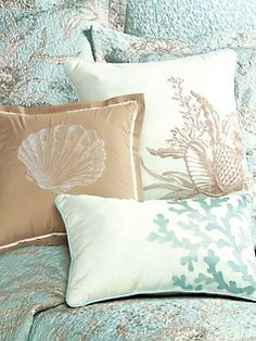By the Sea Coverlet, Shams and Pillows | LinenSource