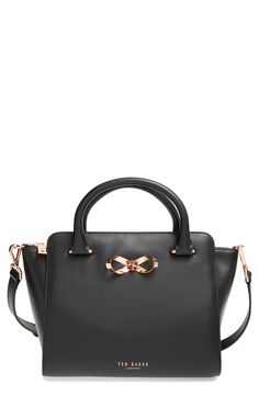 Ted Baker London Loop Bow Leather Tote Bag available at Bags & Hats etc. Popular Handbags, Cute Handbags, Cheap Handbags, Cheap Bags, Handbags On Sale, Purses And Handbags, Luxury Handbags, Cheap Purses, Unique Handbags