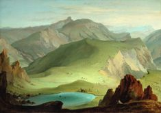 CASPAR WOLF | VIEW FROM THE MUNTIGALM ACROSS LAKE SEEBERG TOWARD THE STOCKHORN CHAIN | The Dealer's Eye | New York2020 | Sotheby's Caspar Wolf, Wolf Painting, Caspar David Friedrich, Online Images, Landscape Paintings, Oil On Canvas, Beautiful Pictures, Scenery, Nature
