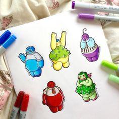 Baymax as Inside Out characters! Disney Pixar, Disney Fan Art, Disney E Dreamworks, Disney Love, Disney Magic, Punk Disney, Cute Disney Drawings, Cute Drawings, Adventure Time Anime