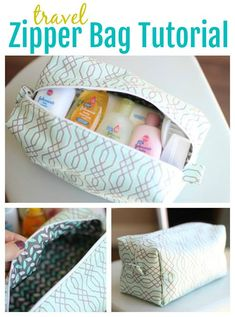 Sew your own makeup or pencil bag using this travel zipper bag tutorial! Linked to an easy-to-follow tutorial that comes together in under an hour. Make one for yourself and a few to keep on hand as gifts! We've used these as teacher appreciation gifts in the past and they've always been a hit!