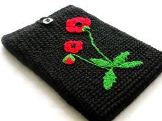 Muchos modelos de estuches para laptop tejidos al crochet
