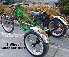 Custom Chopper Bike  Built for kids with special needs. HigleyWelding phone763-438-0356