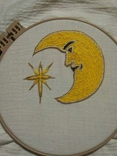 Lunar Embroidery Pattern for instant download